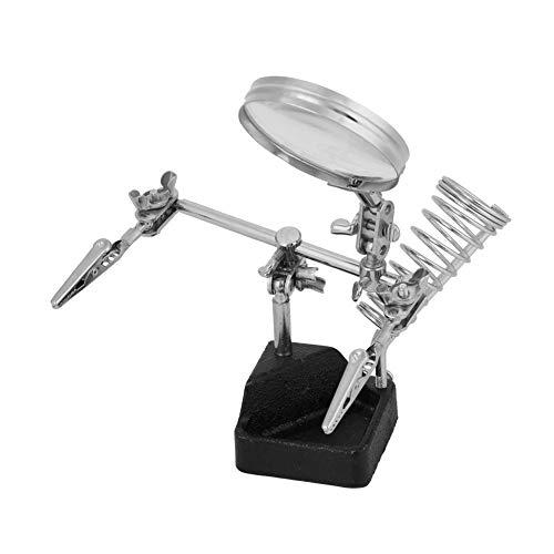 Dritte Hand Löthilfe, 5 fach Lupenbrille mit verstellbaren Clips, Lupe Feinmechaniker Ø 62mm, für...