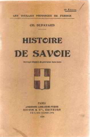 HISTOIRE DE SAVOIE.
