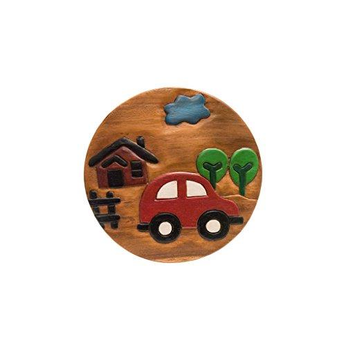 Handgefertigter Kinderhocker, Holz, Kinderhocker:Auto