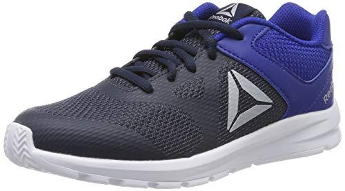 Reebok rush runner, scarpe da ginnastica bambini e ragazzi, blu (navy/blue/silver navy/blue/silver), 37 eu