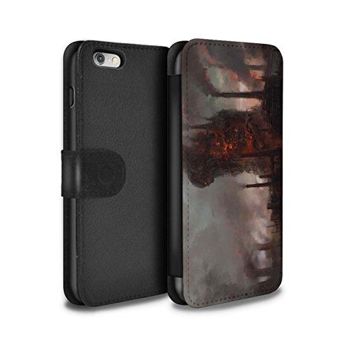 Offiziell Chris Cold PU-Leder Hülle/Case/Tasche/Cover für Apple iPhone 6S / Pack 8pcs Muster / Gefallene Erde Kollektion Industrie Maschine