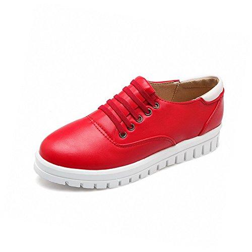 Voguezone009 Chaussures Unie Légeres Dorteil Talon Rouge Bas Couleur n6xq1RwSR
