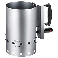 Clatronic EGA 3662, Elektrischer Grillanzünder für sauberen und schnellen Grillgenuss, Wärmeisolierter Griff inkl. Hitzeschutzschild, 600 Watt
