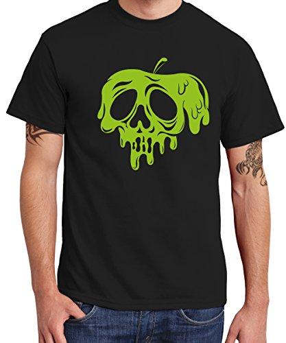 clothinx - vergifteter Apfel – Boys T-Shirt Schwarz, -