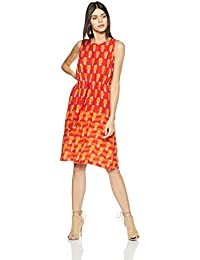 global desi Women's A-Line Knee Long Dress