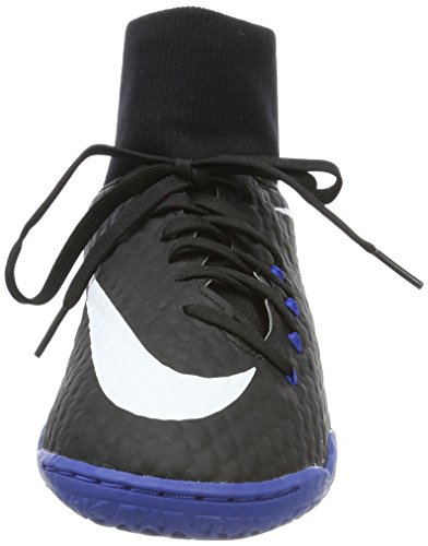Nike Hypervenomx Phelon 3 DF IC, Chaussures de Football Homme, Noir Schwarz (Black/white/dark Grey/game Royal)