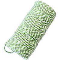 iTemer 1 Rollo Tejido a Mano Cuerda de algodón Etiqueta de Dos Colores decoración de jardín Escena de la Boda de Navidad diseño Decorativo Cuerda de algodón Style D