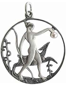 Jugendstil Unisex Anhänger Diana 925 Silber Perle