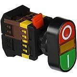 TOOGOO(R) AC 600V 10A ON OFF ENCENDIDO Y APAGADO Momentaneo Boton pulsar Interruptor con 220V Neon Luz