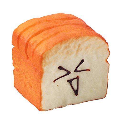 Beetest® Kawaii Squishy Slice Toast Happy Face Cellulari Charms Decorazioni Ornamenti / PU Simulato Cibo Messaggio Carta Clip