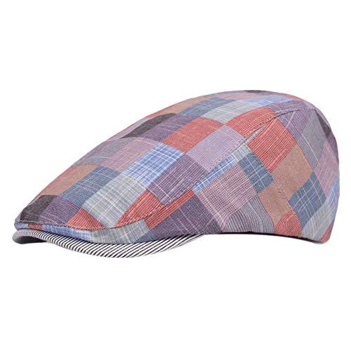ütze Mütze Mütze Flache Kappe Gatsby Schirmmütze Newsboy Mütze für Männer und Frauen (rot) ()