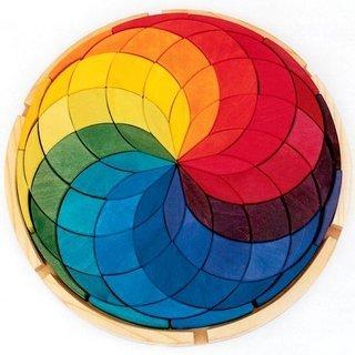 Grimms Spiel Und Holz Design Grimm's Kreis Farbspirale klein - Kreis Holz-puzzle