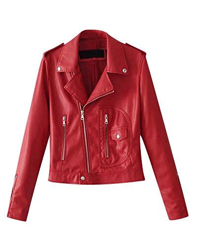 Motorrad Pu-Lederjacke, Damen Schlank Kleine Jacke Weibliche Modelle Langärmelige Jacke Nähen...