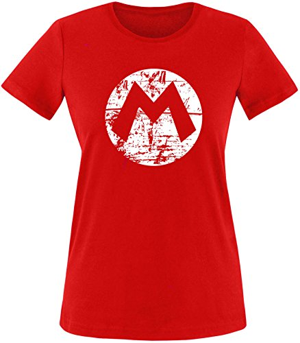 (EZYshirt Mario Damen T-Shirt Rundhals)