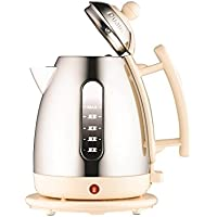 Dualit 72402 Cordless Jug Kettle, 1.5 L - Stainless Steel with Cream Trim