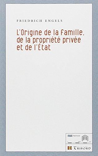 L'Origine de la famille, de la propriété privée et de l'Etat