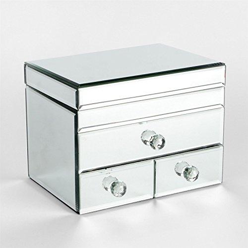 Unbekannt Sophia Spiegel Glas 3Schublade Schmuck Box -