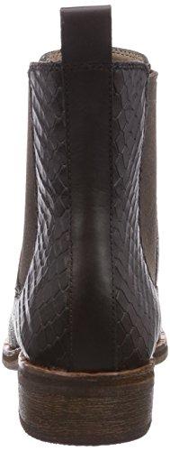 Ecco Prai Mocha Leather W. Snake Print, Bottes Chelsea de hauteur moyenne, doublure froide femme Marron - Braun (MochaLeather w. Snake Print01178)