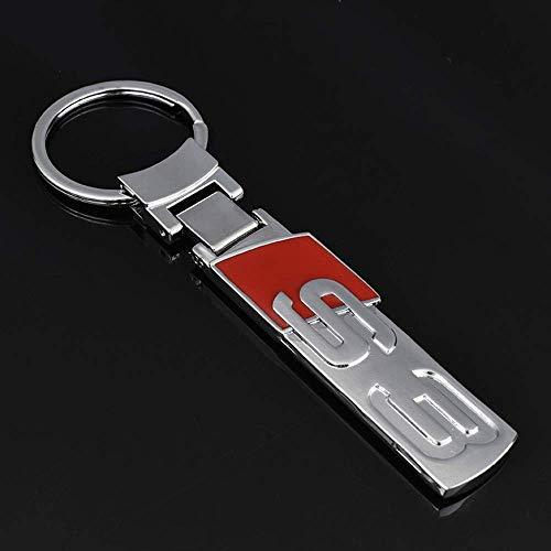 BOLLAER Llavero de Coche S3 con Emblema para Audi, Llavero de Metal con Logotipo de Auto, Llavero, Regalo para Hombre y Mujer