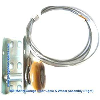 Pattern Canopy Roller and Cable Assembly LH Hormann Garage Door Spares Parts Cables Pre April 2002