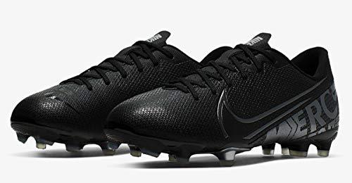 Nike Jungen Vapor 13 Academy Fg/Mg Fußballschuhe, Schwarz (Black/MTLC Cool Grey-Chrome 001), 38.5 EU