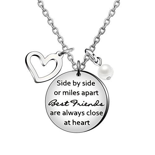 Best Friend Geburtstag Abschlussfeier Freundschaft Geschenke-nebeneinander oder Miles Apart Best Friend sind Close at Herz ()