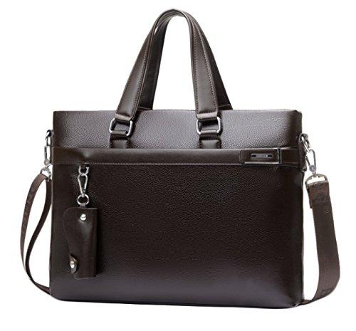 Herren Business Bag Bag Handtasche Querschnitt Aktentasche Freizeit Bag Schultertasche Messenger Bag Brown