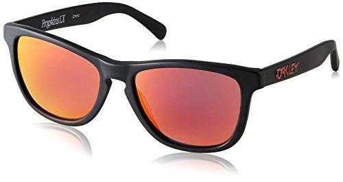 Oakley oo2043 2043 Wayfarer Sonnenbrille, Matte Black/Ruby Iridium (S3)