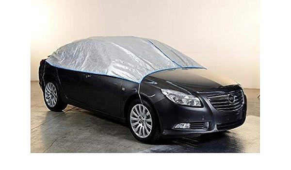 Kley Partner Halbgarage Auto Abdeckung Plane Atmungsaktiv Extrem Leicht Kompatibel Mit Fiat 500 Abarth Ab 2008 In Silber Exclusiv Aus Tyvek Incl Lagerbeutel Auto