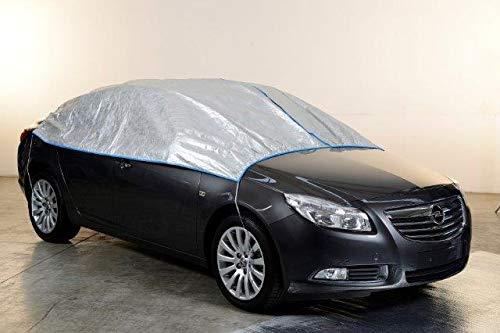 Kley & Partner Autoabdeckung Halbgarage Plane atmungsaktiv extrem leicht kompatibel mit Nissan MICRA ab 2017 in Silber exklusiv aus Tyvek mit Lagerbeutel
