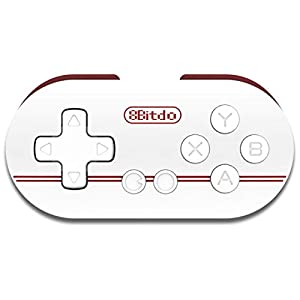 Hermosairis Mini White Portable 8Bitdo Zero ABS Bluetooth Wireless Gamepad Game Controller Joypad Joystick with 32bit ARM CPU
