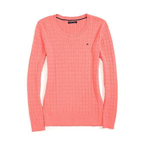 Tommy Hilfiger Cable Knit Pullover (Tommy Hilfiger Damen Pullover, Women's Cable Knit Sweater, X-Large)