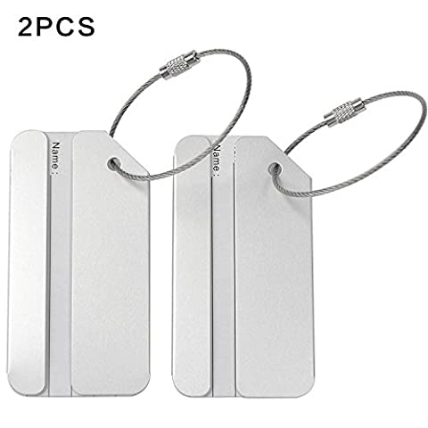 8 pcs Metal Travel Accessories Square-shape Luggage tag / Identifier with Name (Home Furnishings)