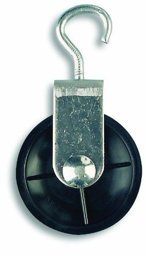 lle mit Haken, verzinkter Stahl - 10 kg - Rollendurchmesser 40 mm - Für Seildurchmesser 6 mm (Handschellen Halloween)