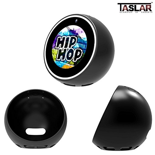TASLAR Silicone Case Protective Cover Soft Skin Base, Bowl Shape for Amazon Echo Spot (Black)