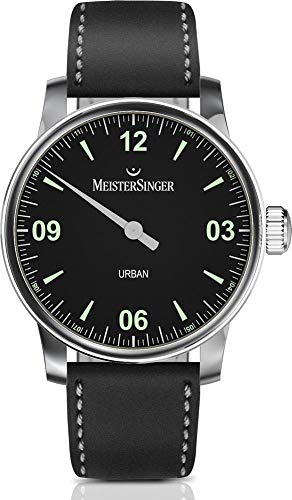 MeisterSinger Urban Mens Black Dial and Strap UR902