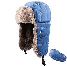 TRIWONDER Sombrero de Soldado trampero de Invierno Bomber Ruso Ushanka  Gorras Sombrero de esquí de Aviador cb8226df627