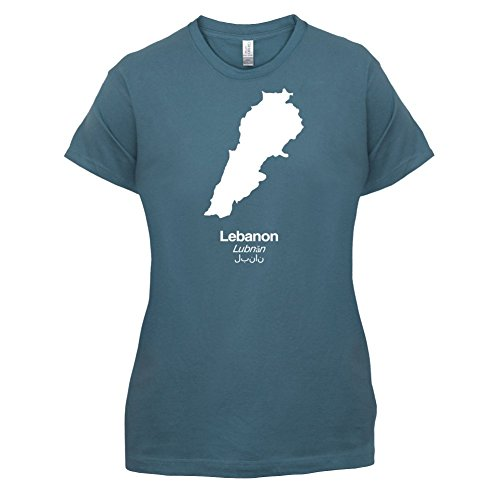 Lebanon / Libanon Silhouette - Damen T-Shirt - 14 Farben Indigoblau