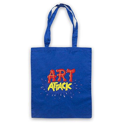 Inspiriert durch Art Attack Logo Inoffiziell Umhangetaschen Blau