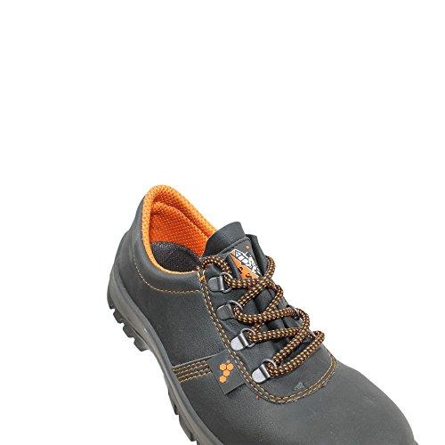 TPS chaussures de sécurité norme s3 sRC chaussures berufsschuhe businessschuhe plat noir Noir - Noir