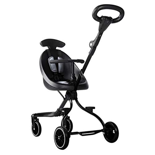 Baby carriage 5,2 kg Zwei-Wege-Hochsichtkinderwagen mit 4 Rädern Leichtes Klappbares Umkehrbares Kinderwagen Reise Joggersystem, 85 × 45 × 88 cm (für Kinder von 7 Monaten bis 3 Jahren)