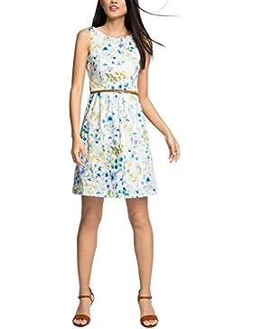 ESPRIT Collection Damen Kleid 056eo1e021 - aus Baumwolle