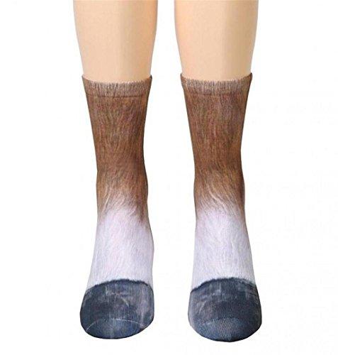 ZEZKT☼ Herren Frauen Teen Mädchen und Jungen Tierpfote Druck Mode Einzigartig Socken Animal Paw Crew Socks Sublimated Print Baumwolle Socken Men Women Warm (H) (Zehen-socken Animal-print)