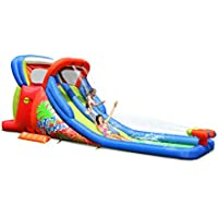 Duplay® Hot Summer Kids 20ft Double Inflatable Waterslide with Airflow Fan