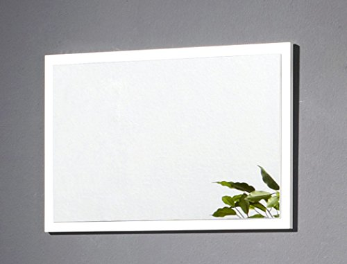 Wandspiegel Bardo 70x45x2 cm weiß Dekor Garderobenspiegel Spiegel Flurspiegel Garderobe