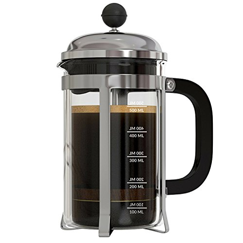 InstaCuppa French Press Coffee Maker with 4 Part Superior Filtration 600 ML,...
