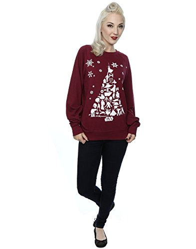 Star Wars Femme Christmas Tree Sweat-Shirt Bourgogne
