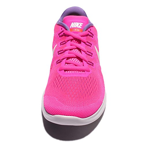 Nike Damen Free Run 2017 Laufschuhe Pink (Fluo Pink/White)