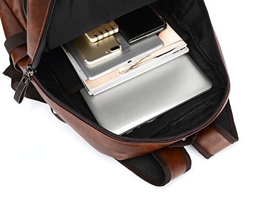 Best Fur Jaden Brown Backpack Bag for Men of Artificial Leather with Laptop Pocket Online 2020 Image 4