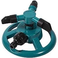 [Patrocinado]Paquete de 2 aspersores de agua, automático 360 Aspersor de jardín ajustable rotativo 3 Aspersores de césped con brazo Aspersor de rotación ABS Boquilla de riego Suministro de jardinería